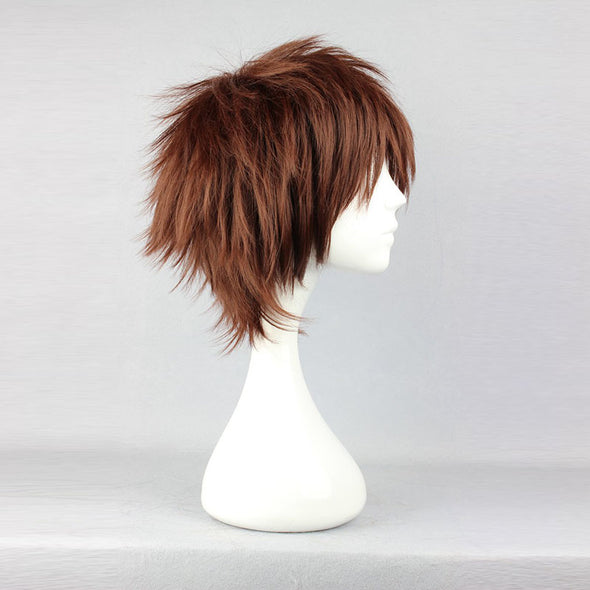 Brown Short Straight Spiky Cosplay Wig - Cosplay Infinity