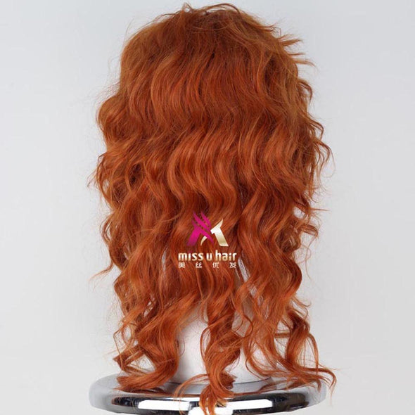 Auburn Synthetic Long Fluffy Curly Cosplay Costume Wig - Cosplay Infinity