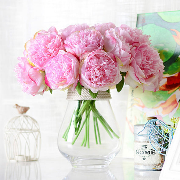 Artificial Flower Peony Dark Pink