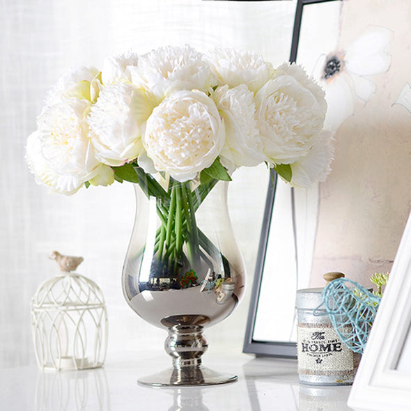 Artificial Flower Peony white