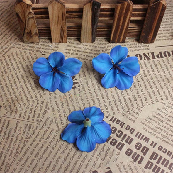 Artificial Silk Hydrangea Flower Petals Blue
