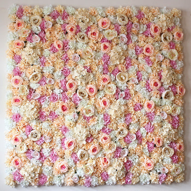 Artificial Silk Rose Flower Wall 1
