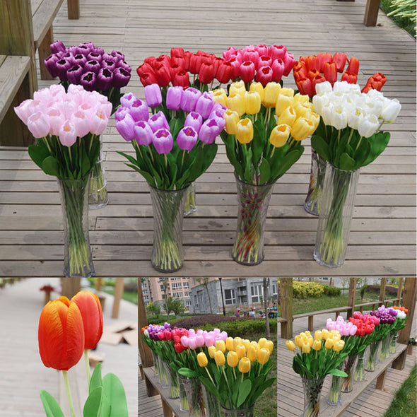 Silk Flowers Tulips all