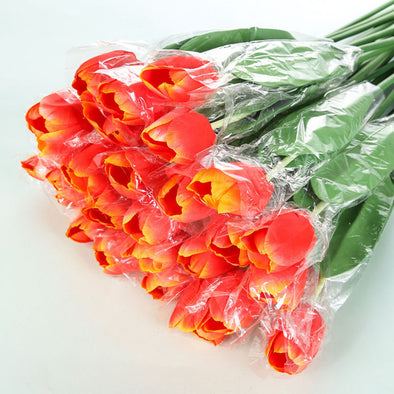 Silk Flowers Tulips orange