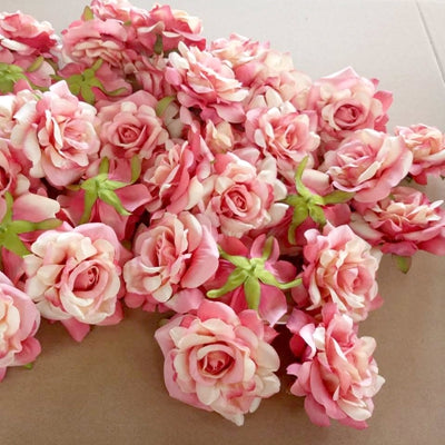Artificial Rose Flowers Deep pink 5