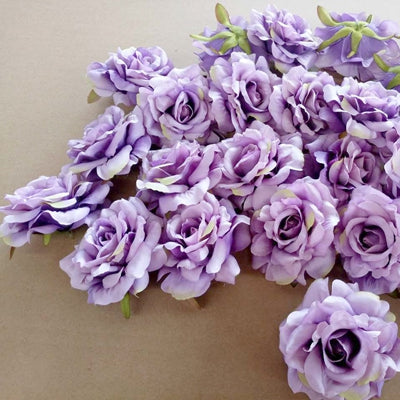 Artificial Rose Flowers light purple 7