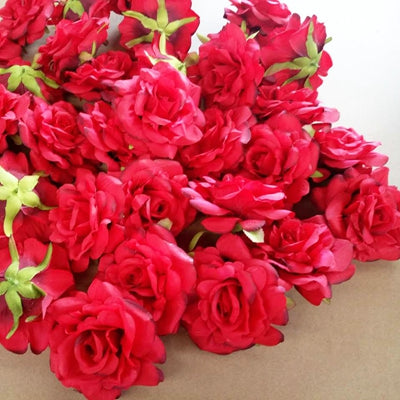 Artificial Rose Flowers red 9