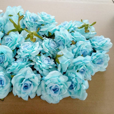 Artificial Rose Flowers blue 10