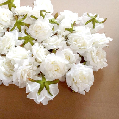 Artificial Rose Flowers white 1