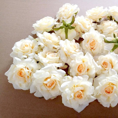 Artificial Rose Flowers Champagne 2