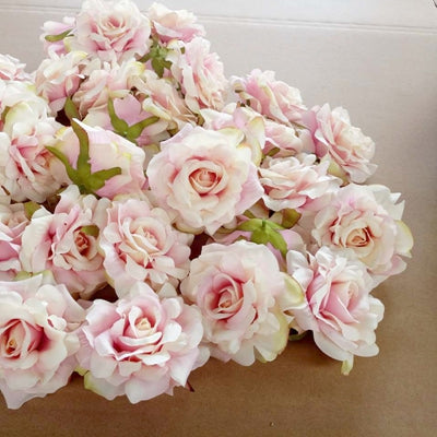 Artificial Rose FlowersArtificial Rose Flowers white pink 4