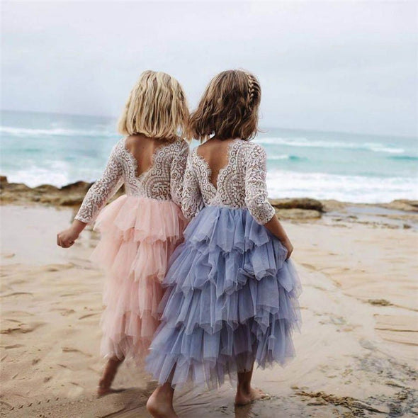 0-5Years Lace Cake Tutu Luxurious Girls Kids Wedding Flower Girl - Cosplay Infinity