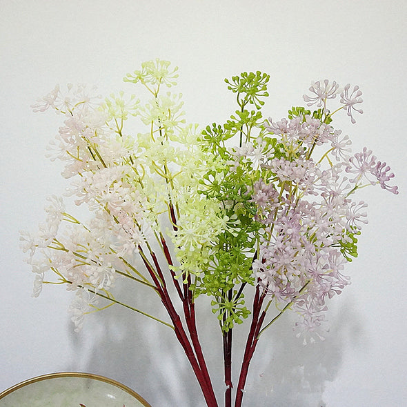69cm 3 branch artificial fruit flower plastic succulent home hotel decoration wedding bouquet DIY material - Cosplay Infinity