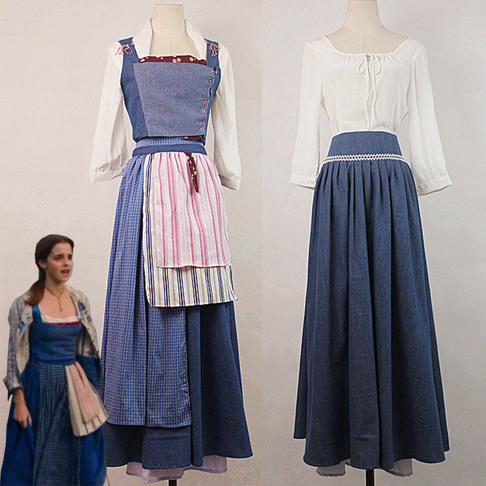 Beauty And The Beast Movie Belle Cosplay Costume Adult Custom Made