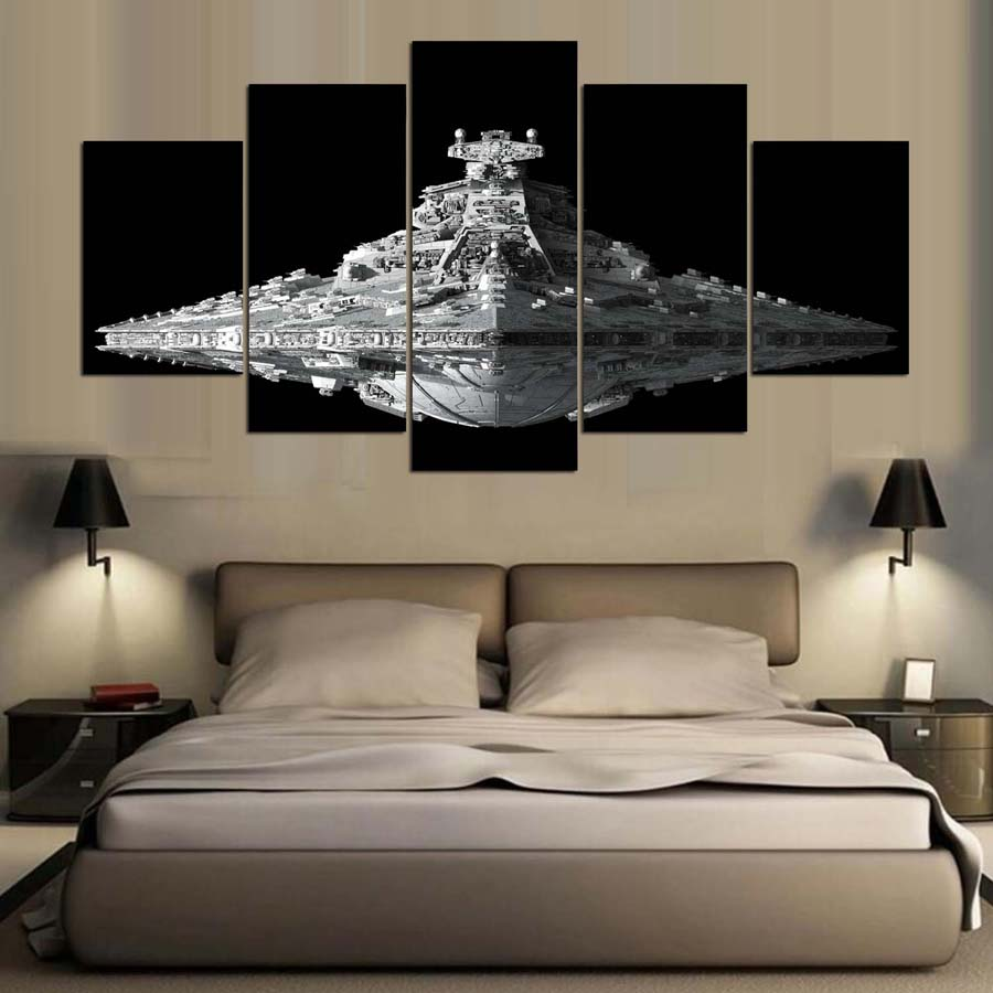 5 Pieces Star Wars Movie Painting Home Decor Canvas Pictures Wall Art Cosplay Infinity