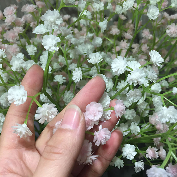 80 mini heads 1PC DIY Artificial baby's breath Flower Gypsophila Fake Silicone plant for Wedding Home Party Decorations 8 Colors - Cosplay Infinity