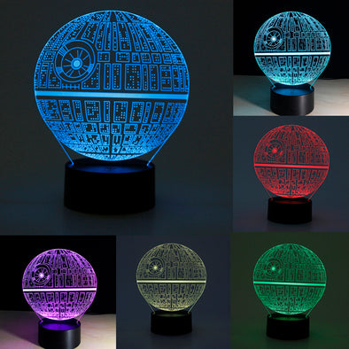 Star Wars Death Star 3D LED Night Light Touch Switch Desk Table Lamp 7 Color New - Cosplay Infinity