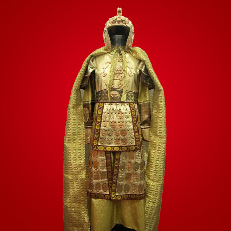 8e867b93f Ancient Chinese Generals Armor Cosplay Costume Uniform Medieval  Battlefields Emperor Fighting Outfit
