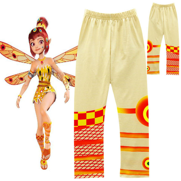 Animation MIA cosplay costumes Girl Vest Wing Top + Pants Suit yellow Dress mia Mia's Elven Kingdom kids Party - Cosplay Infinity