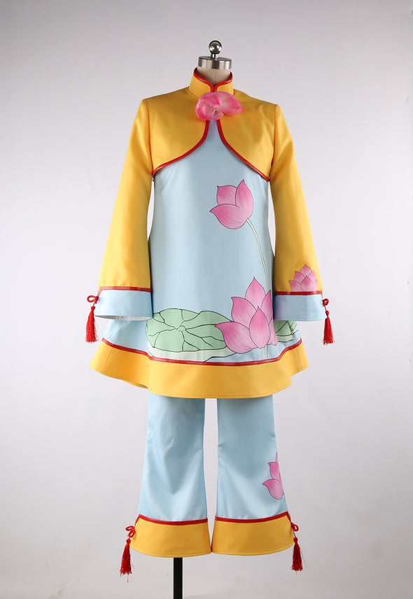 Anime Cardcaptor Sakura Chinese Style Lotus Blossom Cosplay Costume Custom Made