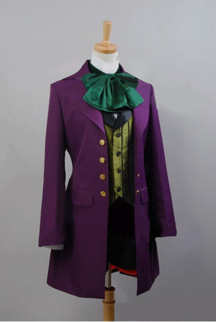 Anime Black Butler II Alois Trancy Cosplay Costume Men Women Purple Coat Jacket - Cosplay Infinity