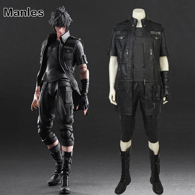 Anime Noctis Lucis Caelum Cosplay Costume Game Final Fantasy XV Jacket Clothes Adult Men Black Outfit Halloween Unisex Customize