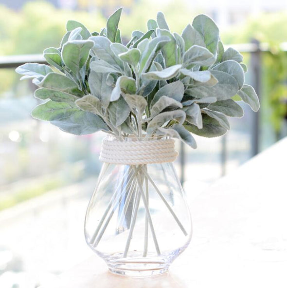Artificial Silk Rabbit ear plant branch flores fall leaves home Christmas decor wedding decoration Flowers diy arrangment wreath