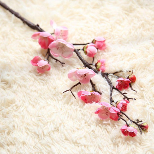 Artificial flowers cheap Silk Fake Flowers Plum Blossom Floral Wedding Bouquet Party Decor Artificial Potted Fake Flowers - Cosplay Infinity
