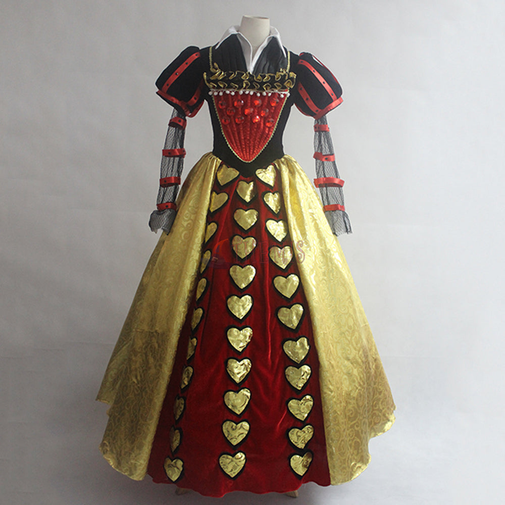 Anime Alice in Wonderland Cosplay Costume The Red Queen Custom Made ...