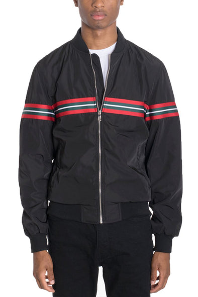 SHIELD BOMBER- BLACK Jacket Windbreaker