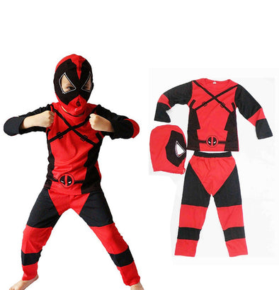 Boys Deadpool Costume Kids Superhero Cosplay  Costumes