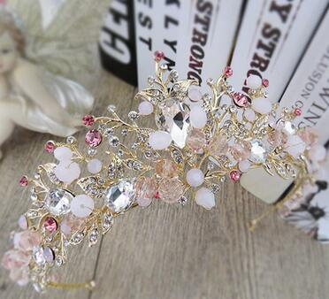 Bridal Flower Hair Jewelry Crystal Tiara Princess Crown - Cosplay Infinity