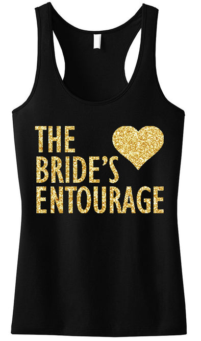BRIDE'S ENTOURAGE Gold GLITTER Tank Top