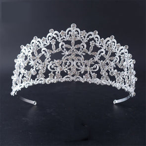 Baroque Style Hollow Design Tiaras And Crowns Vintage Fashion Wedding Hair Accessories For Bridal Engagement Cosplay