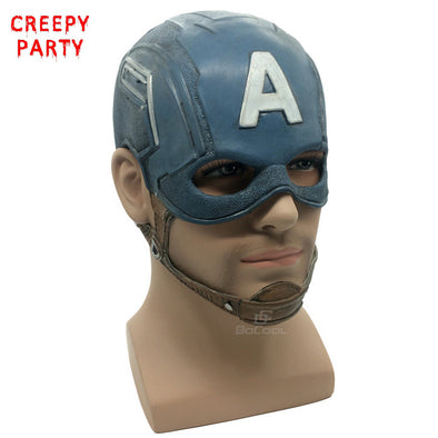 Captain America Mask Realistic Superhero DC Comics Latex Cosplay Costume Props - Cosplay Infinity