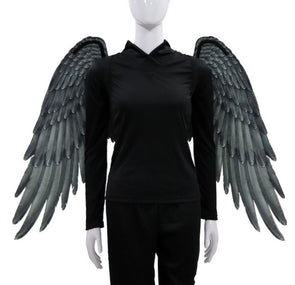 Large Black Adult Angel Felt Wings Cosplay Costume - Cosplay Infinity