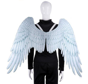 High Quality Pu Foam Soft Engelenvleugels Adult Cosplay Costume White Printed Angel Wings