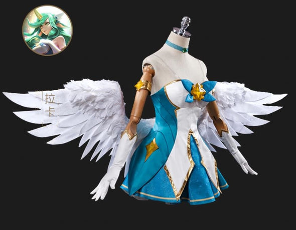 Anime Ascosing Ver Game Cosplay LOL Star Guardian Soraka Cosplay Costume - Cosplay Infinity