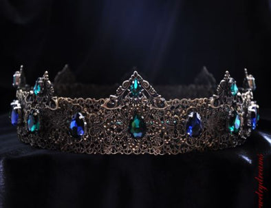 JOSEPE - BLUE AND GREEN MEDIEVAL CROWN - Cosplay Infinity