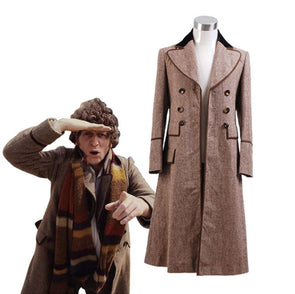 Doctor Who Dr. Brown Trench Coat Jacket Cosplay Costumes
