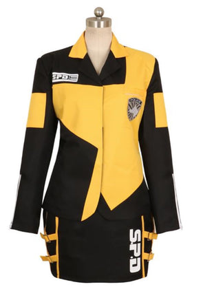 Custom Made Cosplay Costume Tokusou Sentai Dekaranger Deka Yellow Marika Reimon Jasmine Anime Uniform Dress