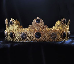 FLAVIO - GOLD BLACK MALE CROWN FOR ROYAL KING