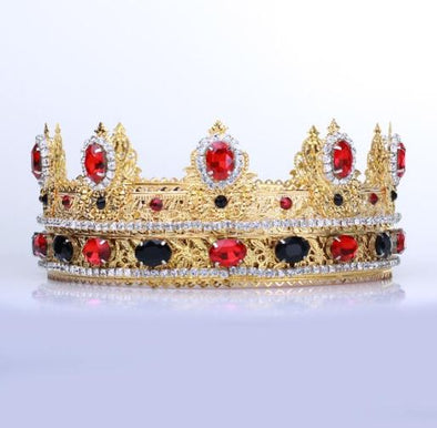 GEOFFREY RED BLACK GOLD CROWN