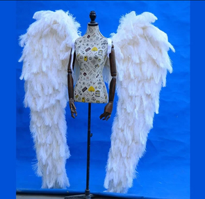 Beautiful High quality Luxurious Ostrich feather angel wings white fairy wings wedding - Cosplay Infinity