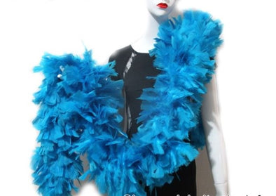 Turquoise Blue Turkey Boa for Brazil Carnival Costumes Cosplay - Cosplay Infinity
