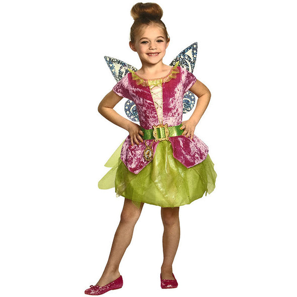 Children adult Girl Deluxe Green Tinker Bell princess and the Pirate flower Tinkerbell Fairy Costume fancy dress with Wing - Cosplay Infinity