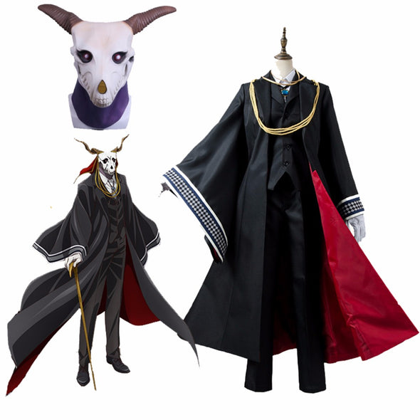 Cosplaydiy Anime The Ancient Magus Bride Cosplay Costumes Elias Costumes With Mask Mahoutsukai no Yome Costume Mask - Cosplay Infinity