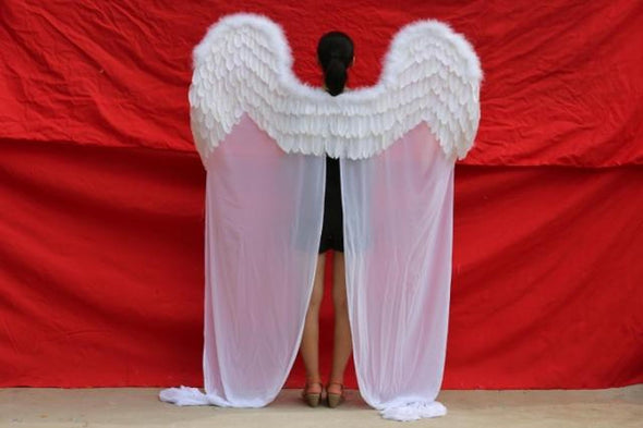 Angel Feather Wings for Wedding Stage Cosplay Party - Cosplay Infinity