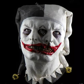 Cursed and Demented Two Faced Jester Mask Two Headed Masks Latex Horror - Cosplay Infinity