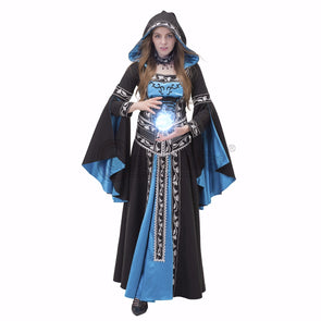 49c4a1cf8916e0 Custom Made Medieval Renaissance Hooded Dress Ball Gown Cosplay - Cosplay  Infinity